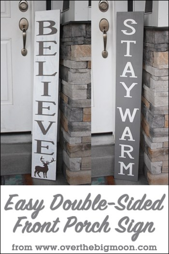 Easy Double Sided Front Porch Sign Over The Big Moon