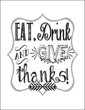 Eat Drink Give Thanks