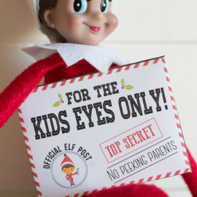 Elf on the Shelf Mission Impossible Envelopes and Cards