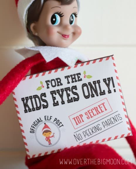 elf on the shelf envelopes21 464x575 Elf on the Shelf Mission Impossible Envelopes and Cards