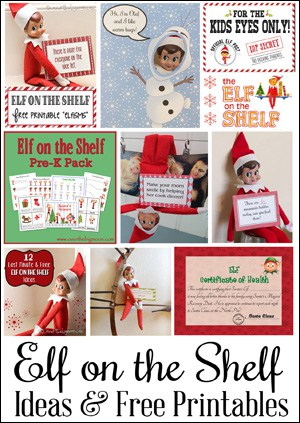 elf side bar 25 Elf on the Shelf QUICK & EASY Ideas that take Under 5 mins!