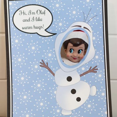 Elf Frozen Photo Booth Backdrops