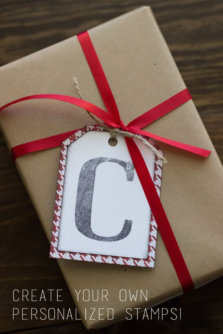 make personlized stamps and gift tags