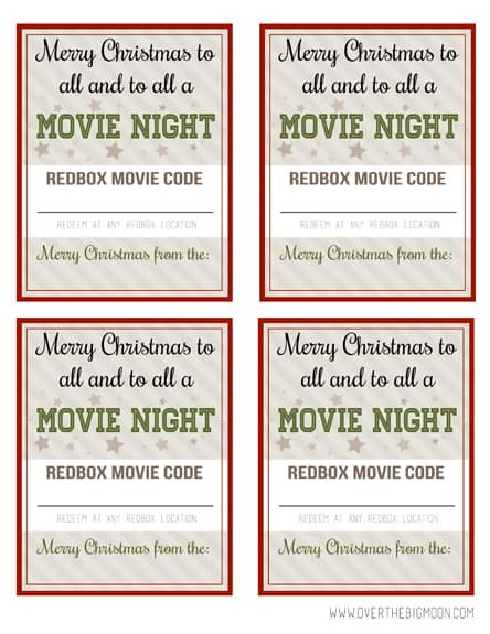 Redbox Neighbor Gift Idea - Over The Big Moon