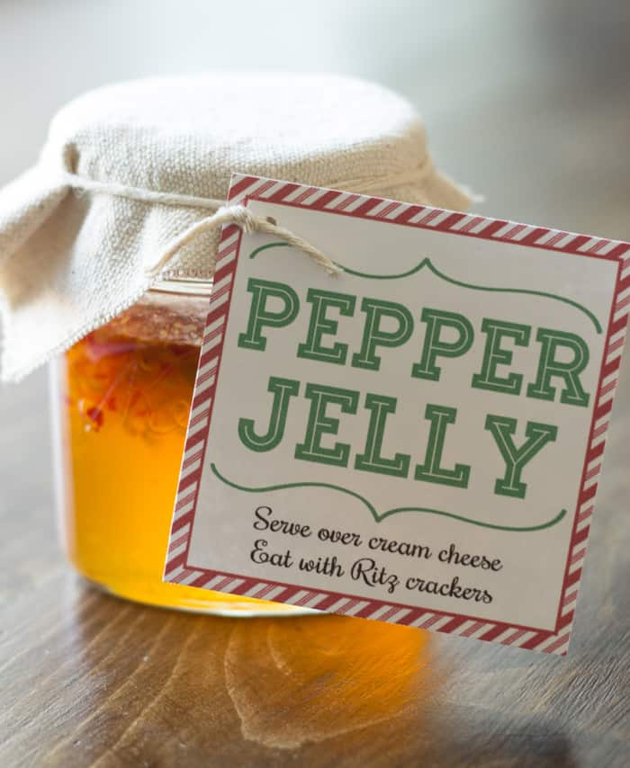 Pepper Jelly Neighbor Gift Idea W Printable Gift Tag