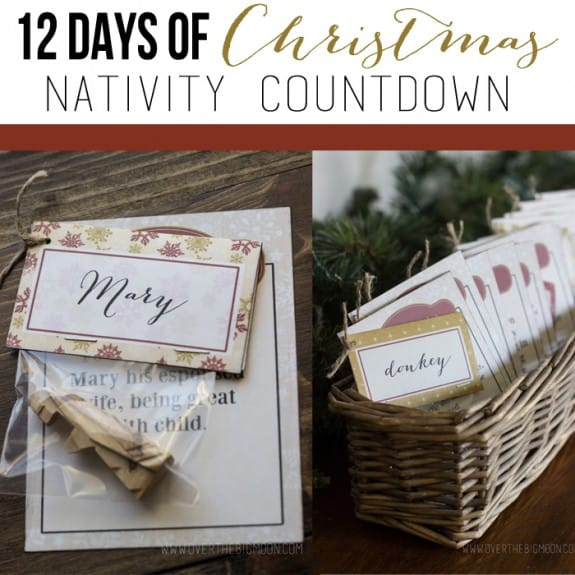 Nativity Printables - 12 Days of Christmas Nativity Countdown tradition!  Help remember the true meaning of Christmas with this great tradition!