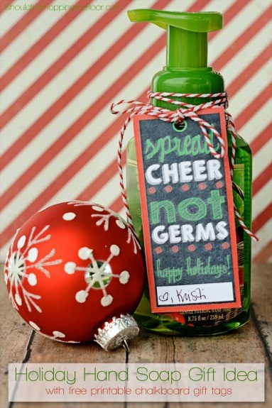 Christmas Soap Gift Tag + other fun Teacher Gift Ideas | overthebigmoon.com - 15 Easy Christmas Gifts For Teachers - Over The Big Moon
