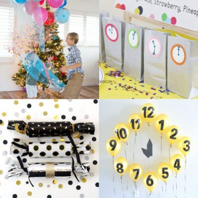 New Year's Eve Activities for Kids - games, crafts, printables and more! From overthebigmoon.com!