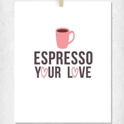 Coffee Valentines Printable