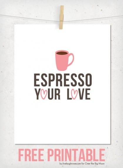 Espresso Your Love Valentine Printable