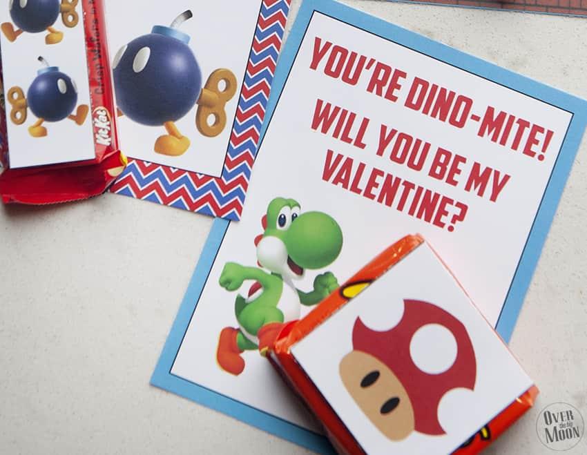 Super Mario Printable Valentines Over The Big Moon