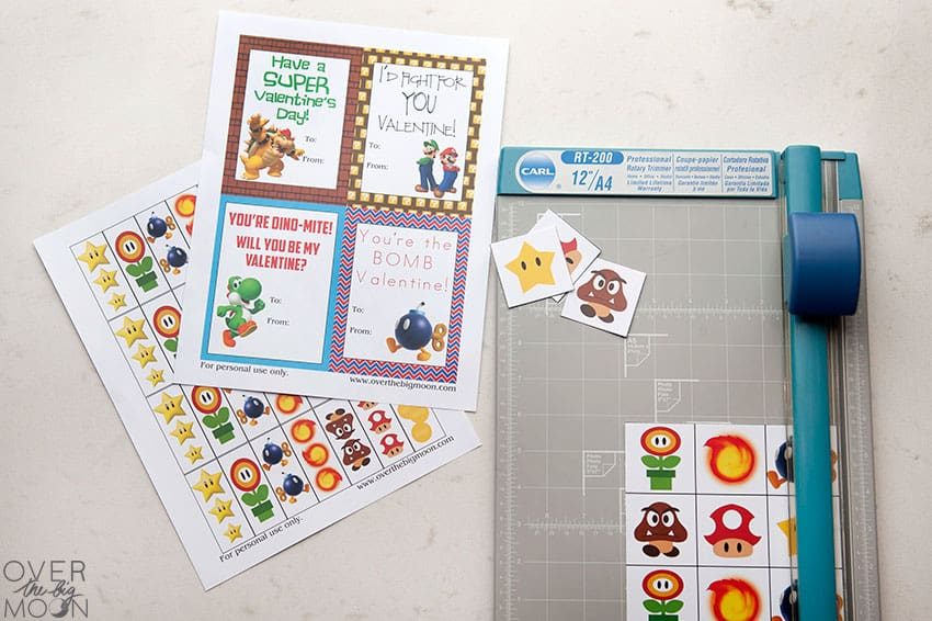 Cut and Prep Mario Valentine's from overthebigmoon.com!