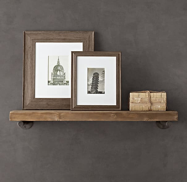 I have been dreaming of shelves above my buffet for awhile now. When I saw  this image from Restoration Hardware, I knew they were perfect! - Over The Big Moon DIY Pipe Shelving