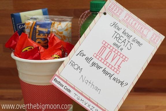 redbox teacher valentines gift