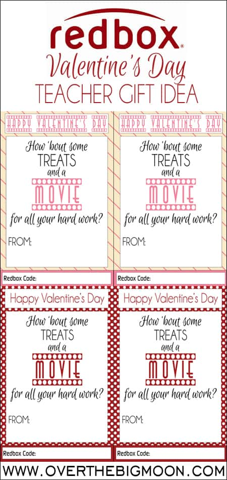 Redbox Valentines Teacher Gift Idea Over The Big Moon