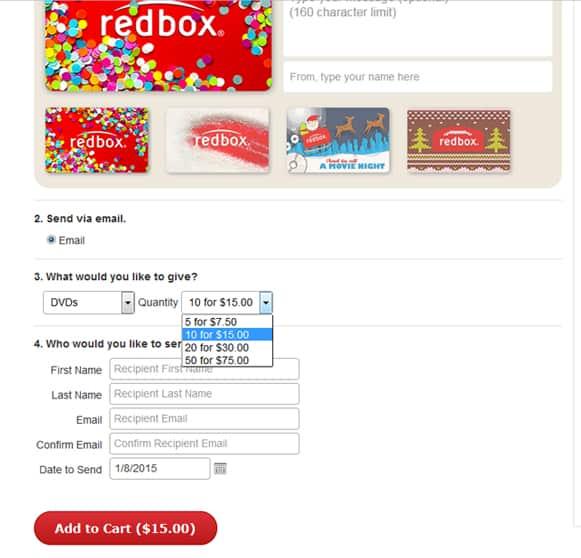 picture regarding Redbox Gift Card Printable named Redbox Reward Sabines Kitchen area