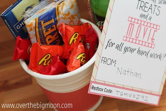Redbox Valentines Teacher Gift Idea - Over The Big Moon