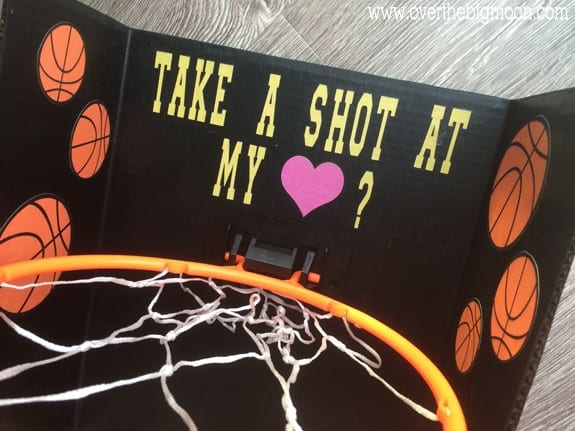 Basketball Valentines Day Box Over The Big Moon