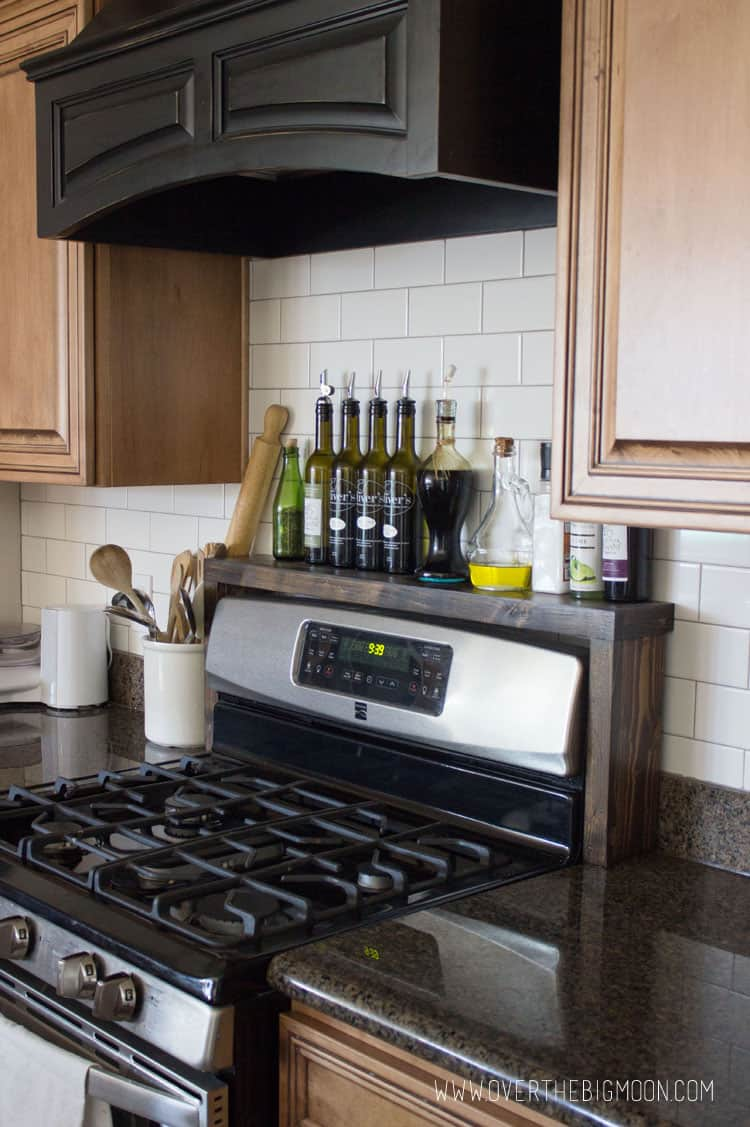 DIY Oil and Vinegar Shelf