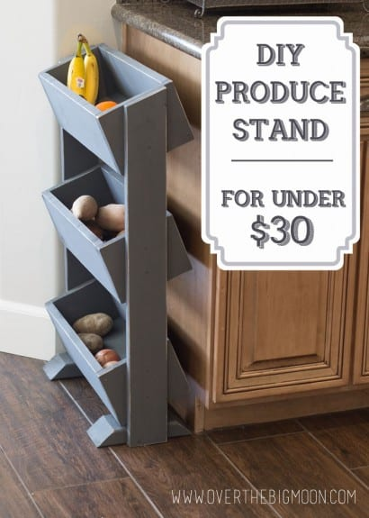 DIY Produce Stand for Under $30 from www.overthebigmoon.com!
