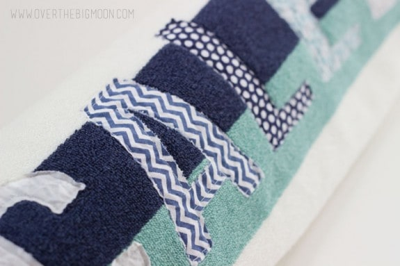 Applique towels10
