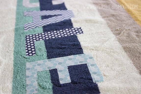 Applique towels7