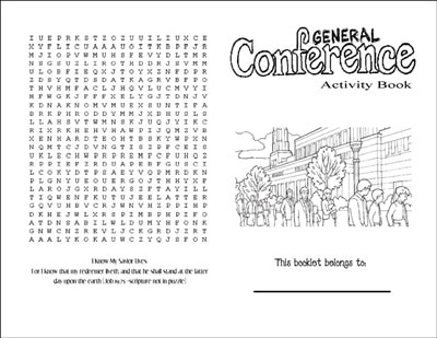 General Conference Activity Book for Kids + 20 other fun activities for Kids! From overthebigmoon.com!