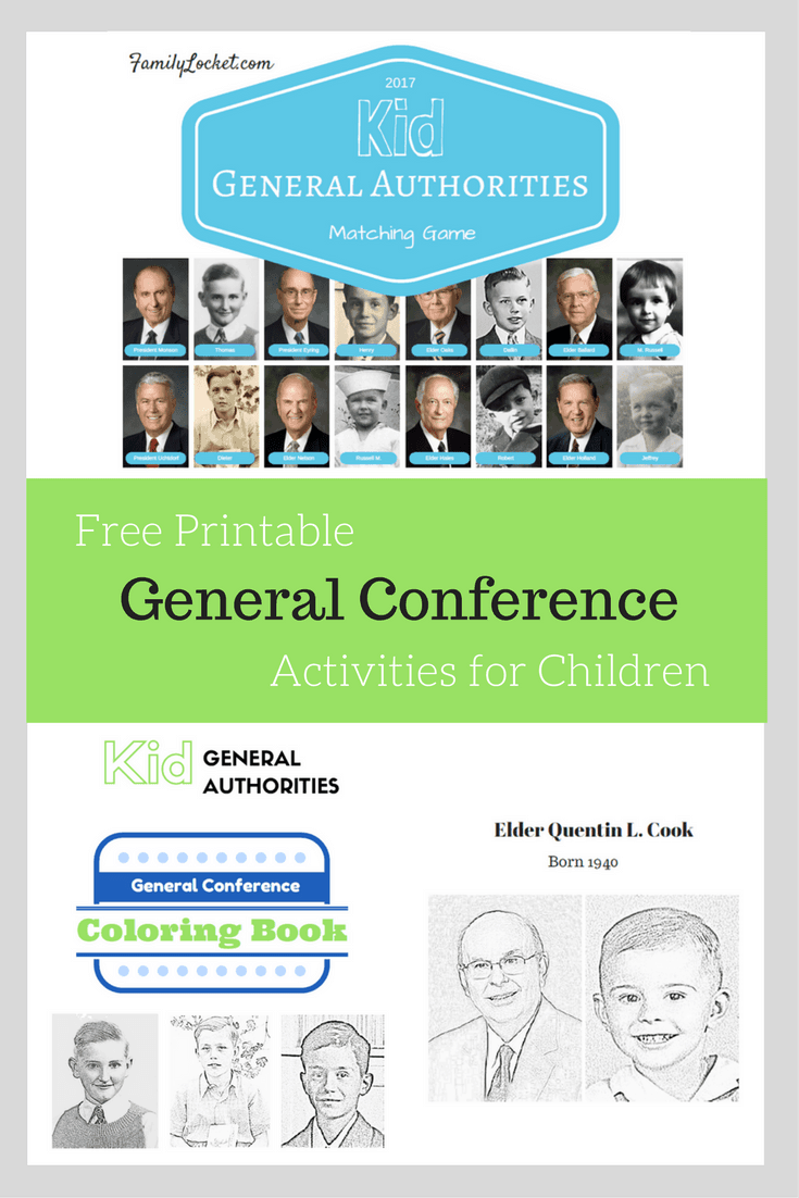 General Conference Printables and Ideas for Kids Over