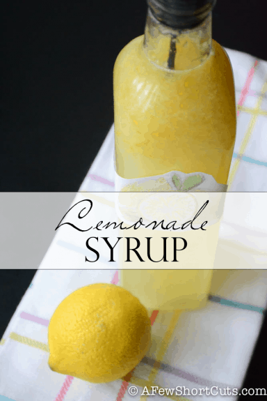 Lemonade-Syrup