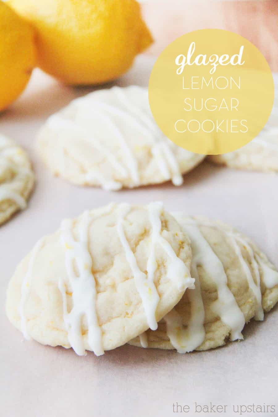 Lemon Glazed Cookies With Cake Mix
