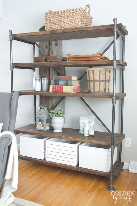 creative pipe shelving ideas. Black Bedroom Furniture Sets. Home Design Ideas