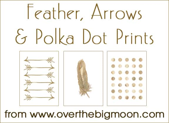Feather Arrow And Polka Dot Free Printables Over The