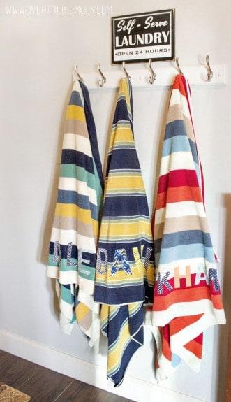 Applique towels9