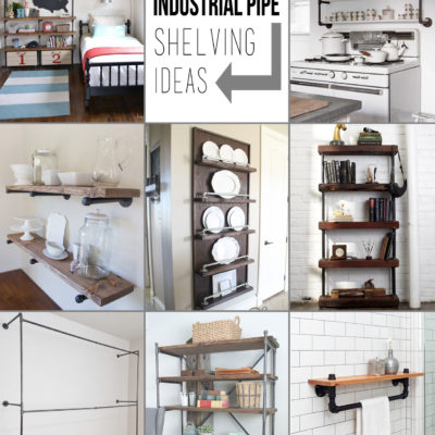 Creative Pipe Shelving Ideas