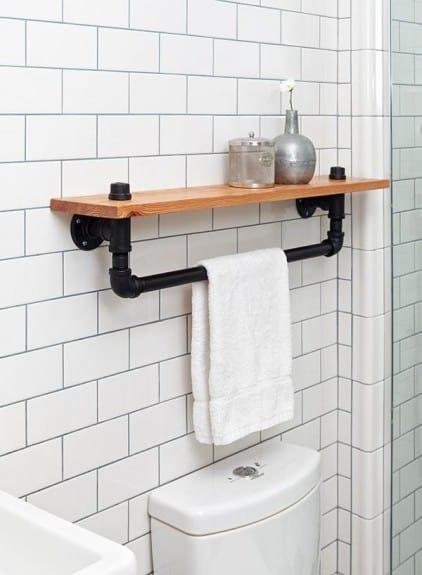 Industrial Bath Towel Rack