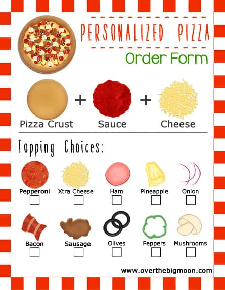 Movie And Pizza Family Night Idea W Printable Order Forms