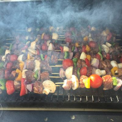 The Best Kabobs - Balsamic Pork and Teriyaki Beef