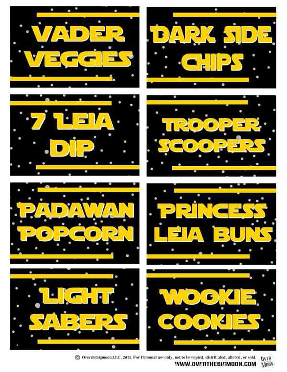 May The 4th Be With You Star Wars Food Free Printables Over The