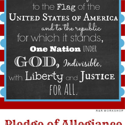 Pledge of Allegiance Free Printable