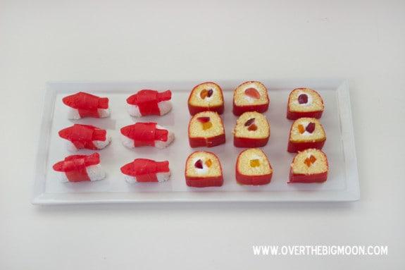 Desert Sushi - such a fun treat for kiddos! From www.overthebigmoon.com!