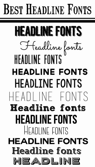 Best headline fonts
