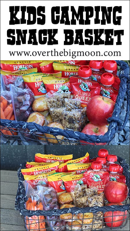 Kids Camping Snack Basket Over The Big Moon