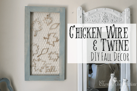 Chicken Wire and Twine Fall Decor