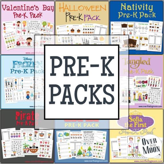 Camping Pre-K Printables Pack