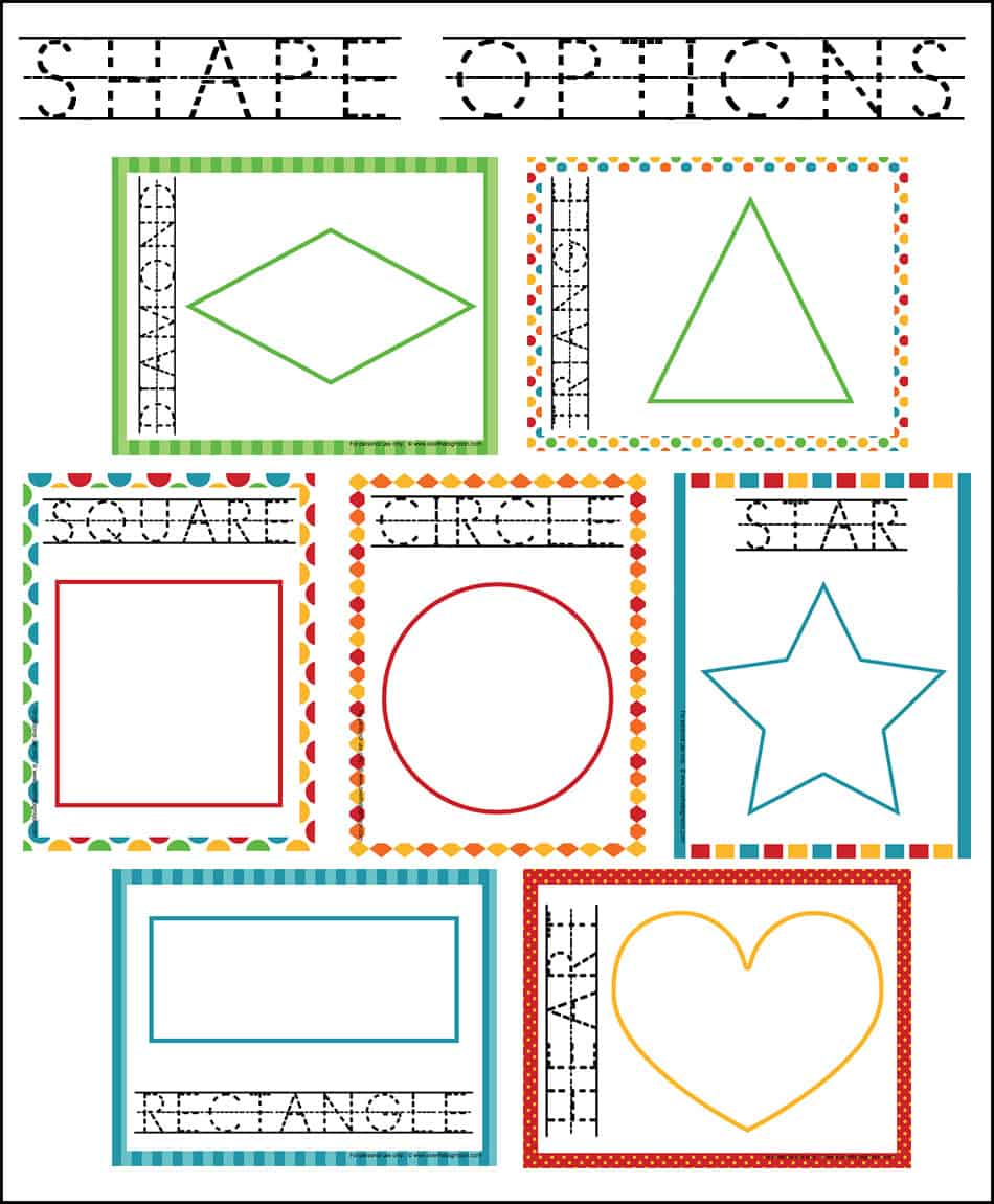worksheet Learning Shapes over the big moon learning shapes playdough mats just print on your home printer and laminate for hours of