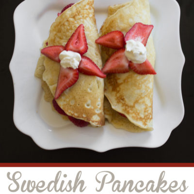 Swedish Pancakes with a Almond Crème Fraiche | Over the Big Moon