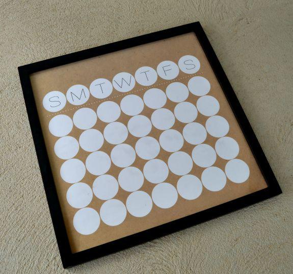 Blank Calendar Hobby Lobby : Easy dry erase calendar over the big moon