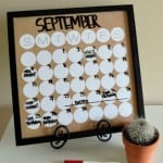 Easy Dry Erase Calendar - such an easy DIY calendar! From www.overthebigmoon.com!