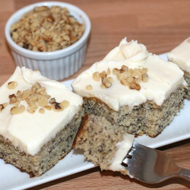 Frosted Cream Cheese Banana Bars