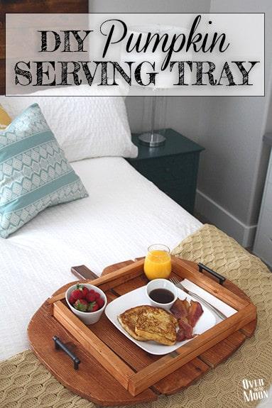 DIY Pumpkin Serving Tray Tutorial - from www.overthebigmoon.com!